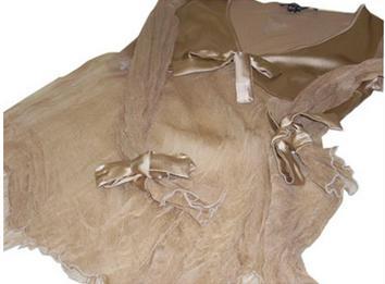 casacca in seta color beige