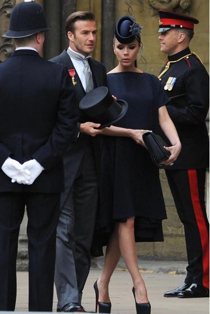 look degli invitati al matrimonio reale - Beckham