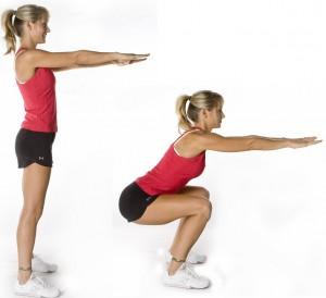 esercizi tonificazione glutei - squat