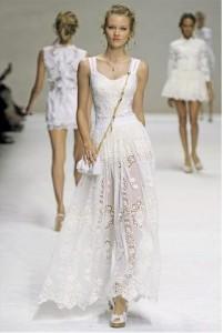 moda primavera estate 2011 - pizzo dolce&gabbana