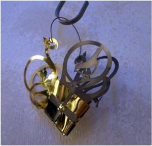 addobbi natalizi - cuore oro