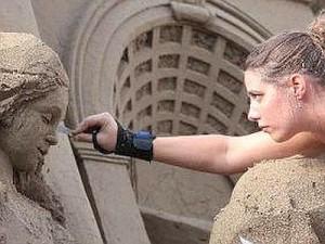 sand nativity jesolo - presepe in sabbia