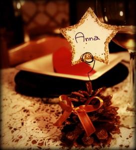 segnaposto natalizi - segnaposto pigne