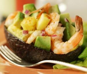 gamberi e avocado - antipasto pesce