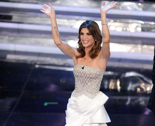 Elisabetta Canalis serena a Sanremo e con Steve-O