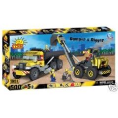Camion e scavatrice
