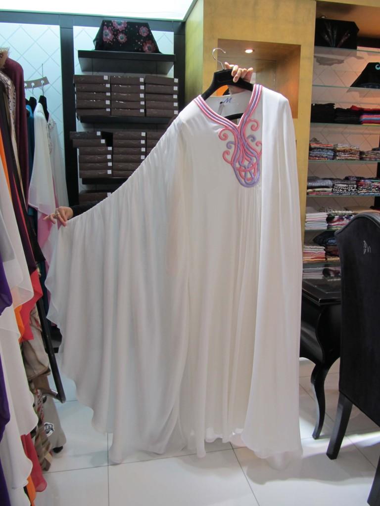 abaya bianco