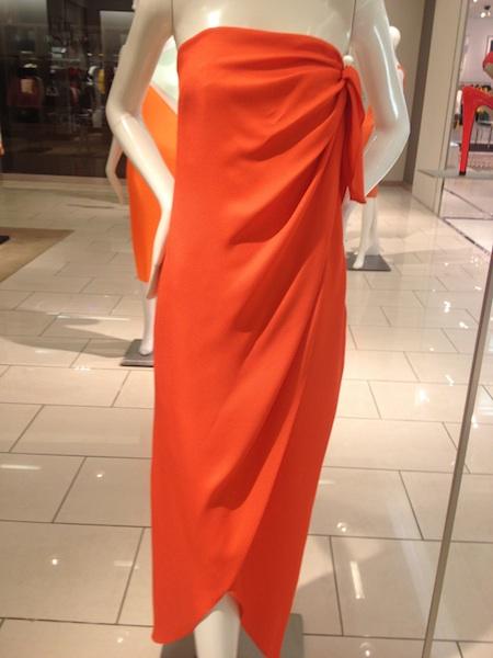 arancione vestito lungo