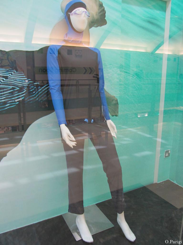 burkini nero blu