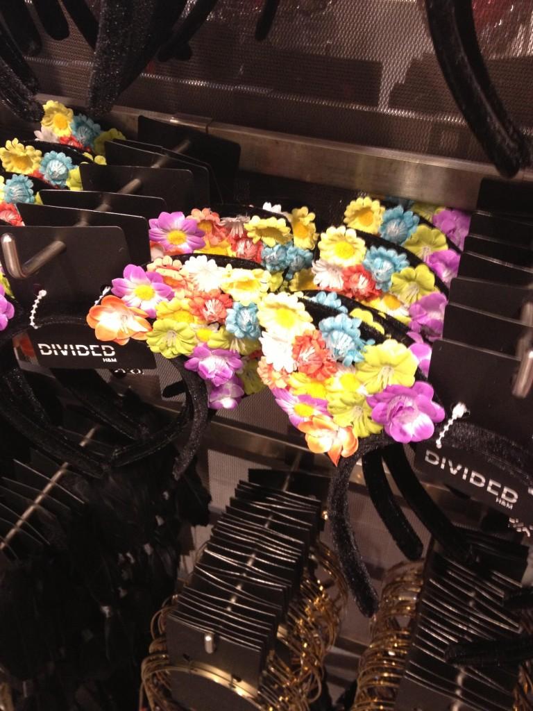 cerchietto orecchie fiori