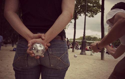 palla in mano