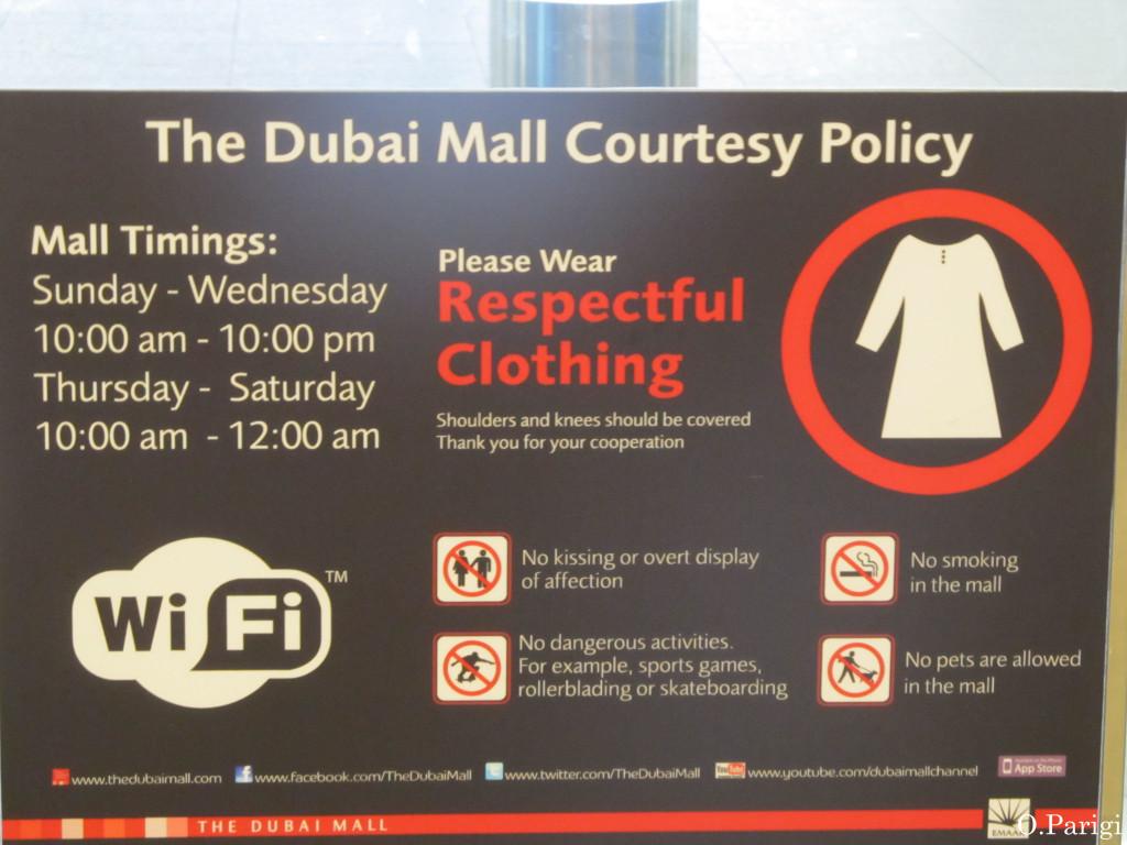 regole dubai costumi