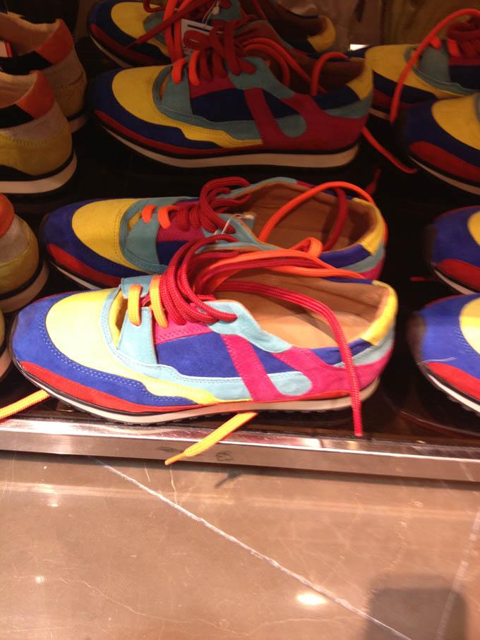 sneakers rosa arancio
