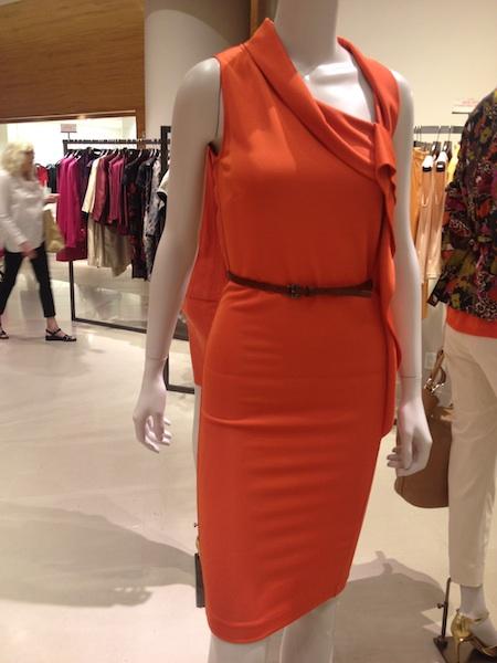 tubino cintura arancione