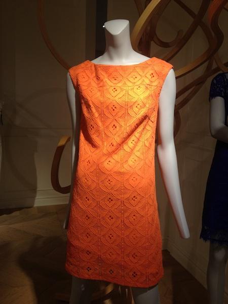 vestito pizzo arancione