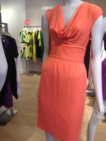 vestito tubino arancione