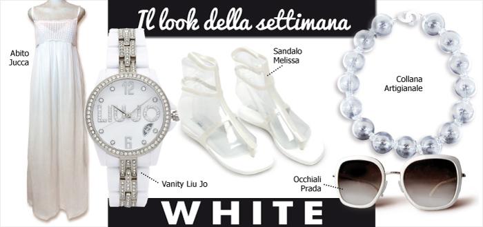 look della settimana white