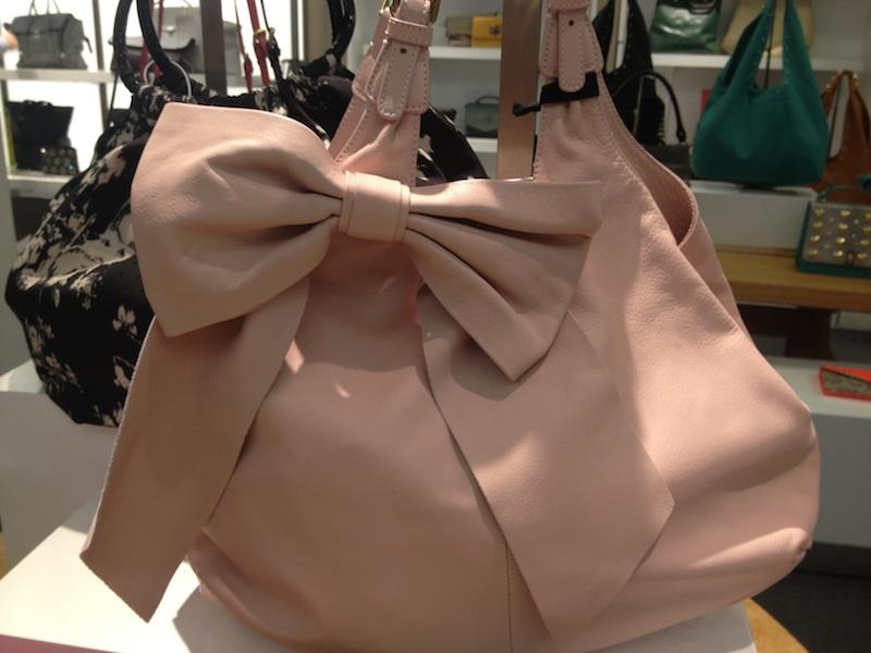borsa rosa fiocco