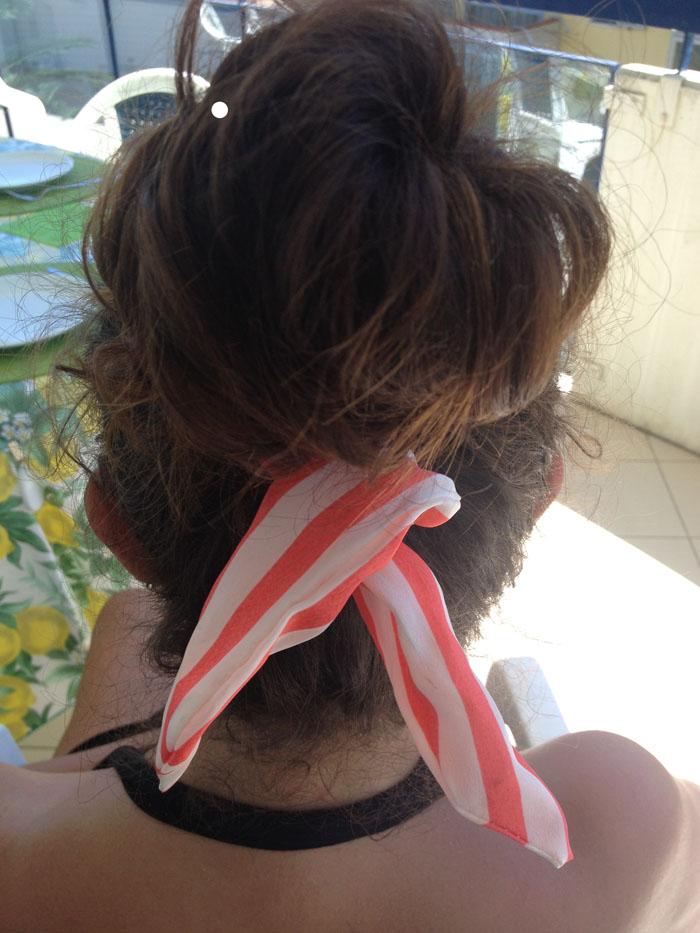 foulard righe cignon