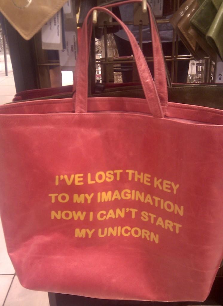 borsa unicorno divertente