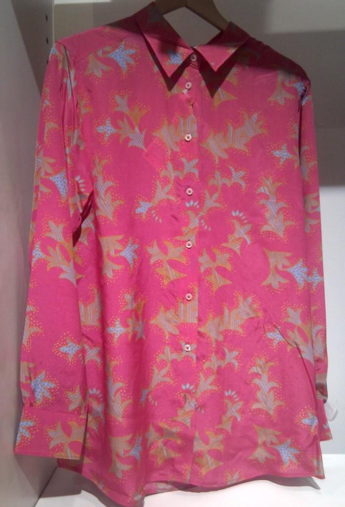 camicia pattern rosa