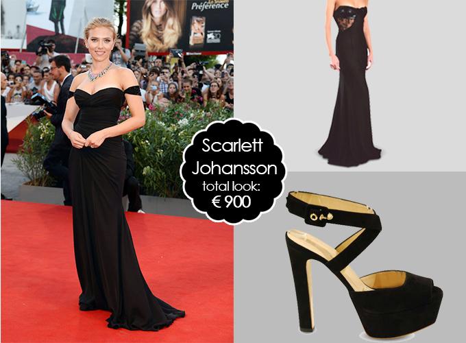 Scarlett Johansson look Festival del cinema