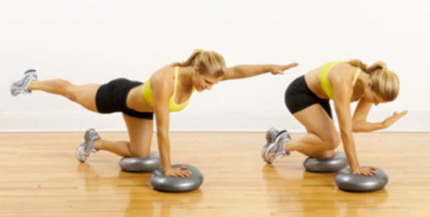 Allenamento con balance disc