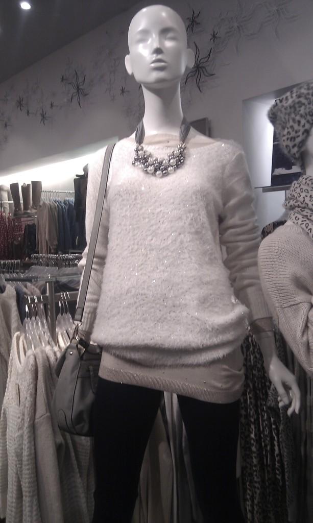 maglione con lustrini