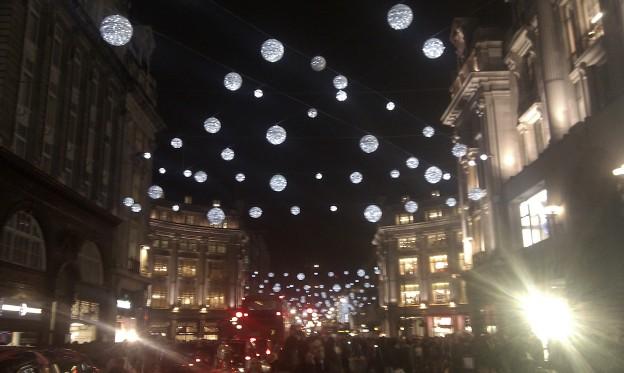 luci di natale a Regent St