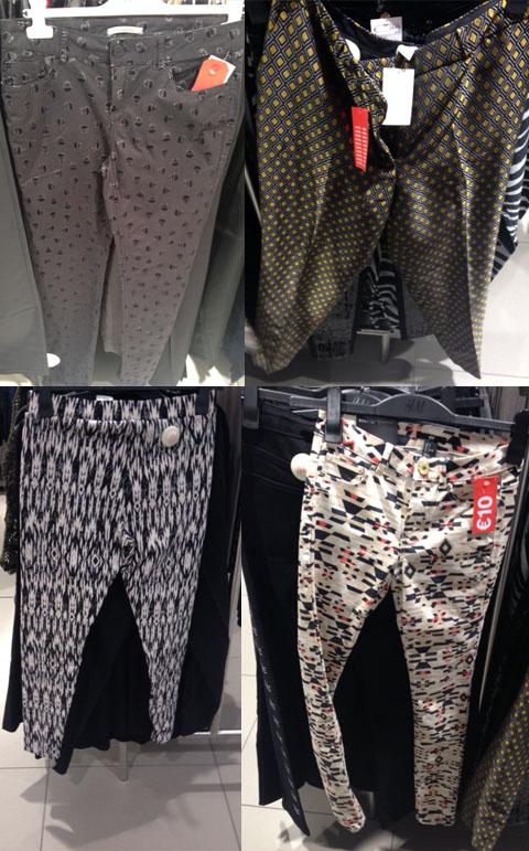 pantaloni con stampe