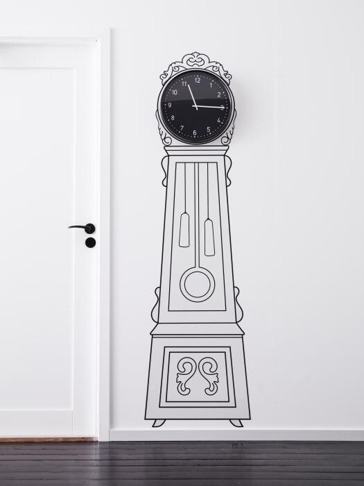 orologio adesivo look home