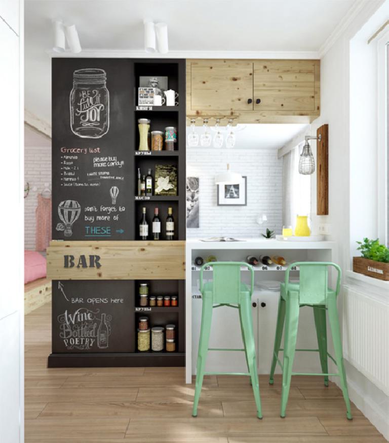chalkboard kitchen_look home