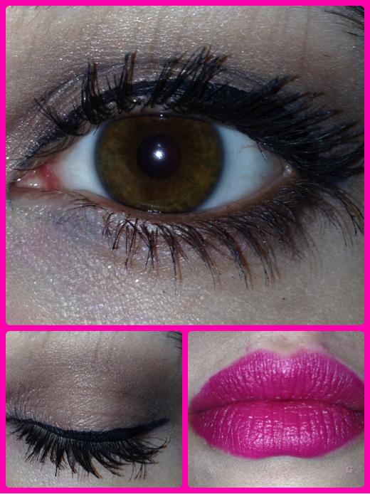 tutorial occhi marroni labbra fucsia