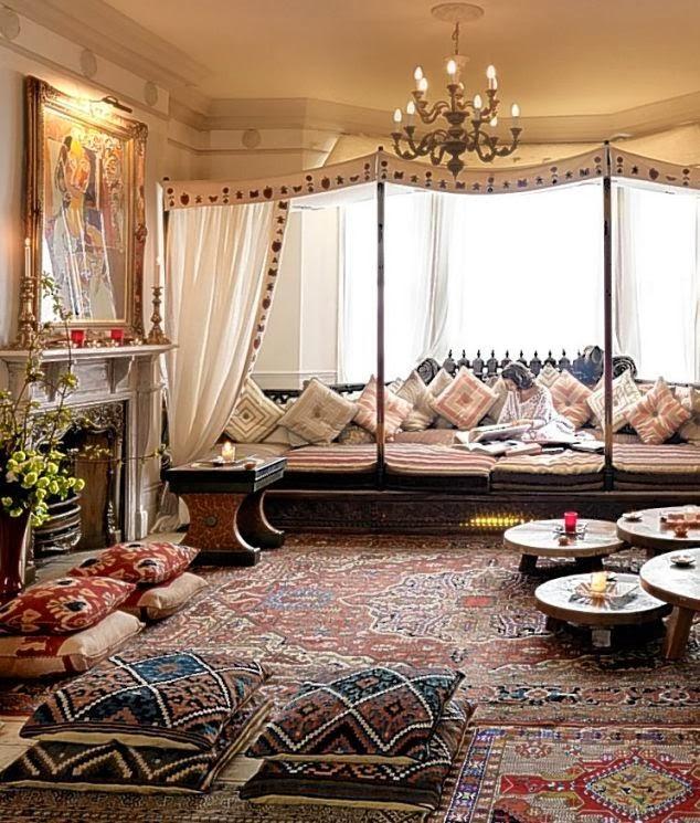 Mille e una casa arredare in stile arabo blog for Indian seating designs living room