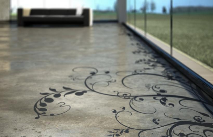 resin floor interiors look home