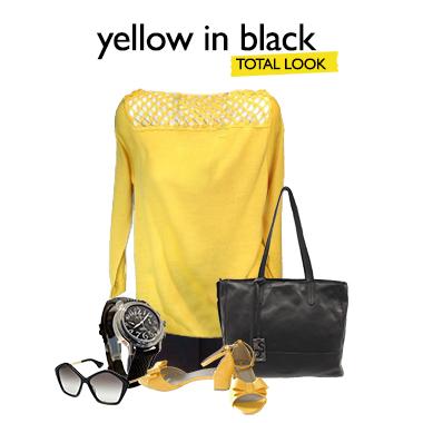 Look yellow in black