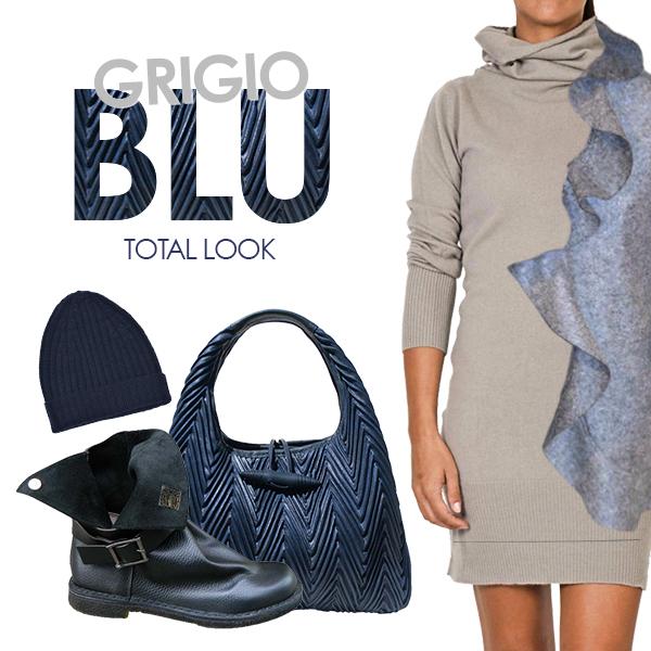 Total Look Grigio & blu