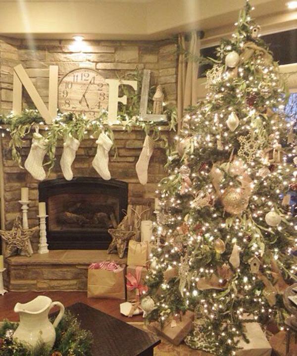 decorazioni albero natale look home
