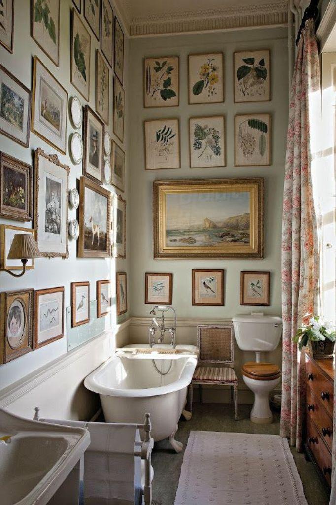 Arrediamo in stile inglese blog - Quadri per il bagno ...