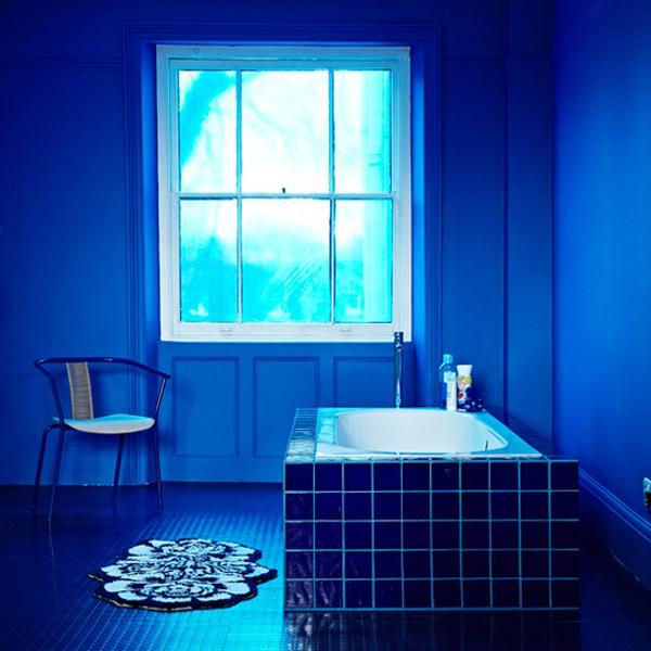 blue bathroom look home