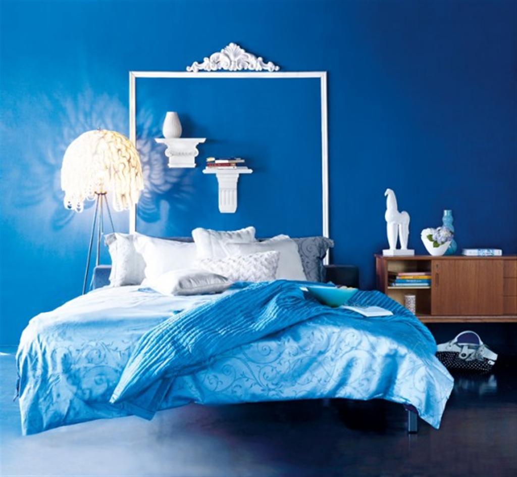 blue bedroom look home