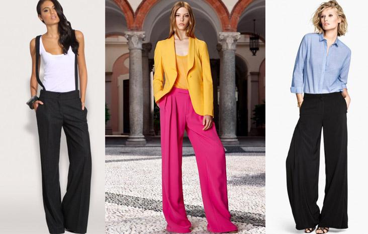 pantaloni a palazzo