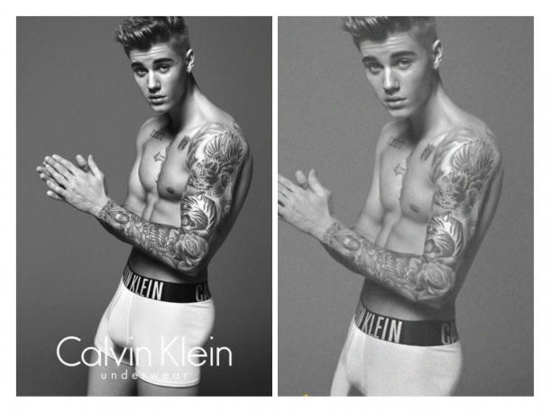 Justin Bieber Photoshop