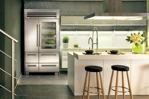 kitchen fridge glass look home