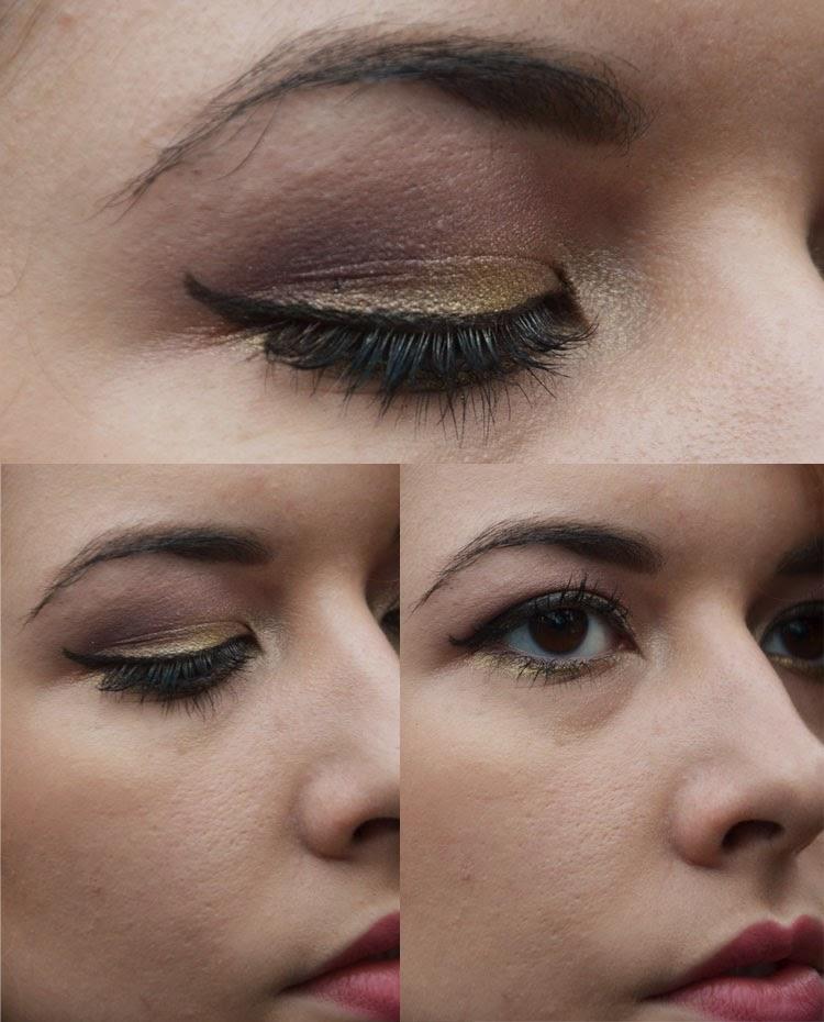 make up oro e viola