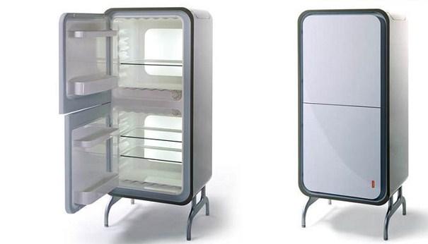 one door fridge open look home