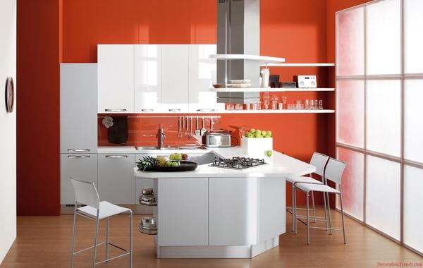 cucina arancio look home