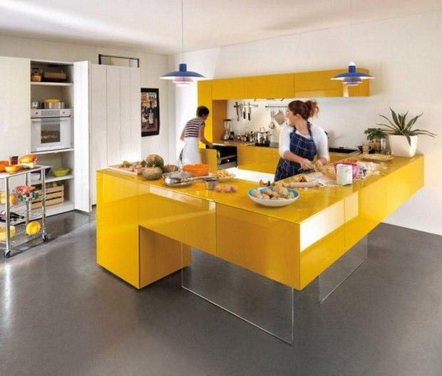 cucina gialla look home