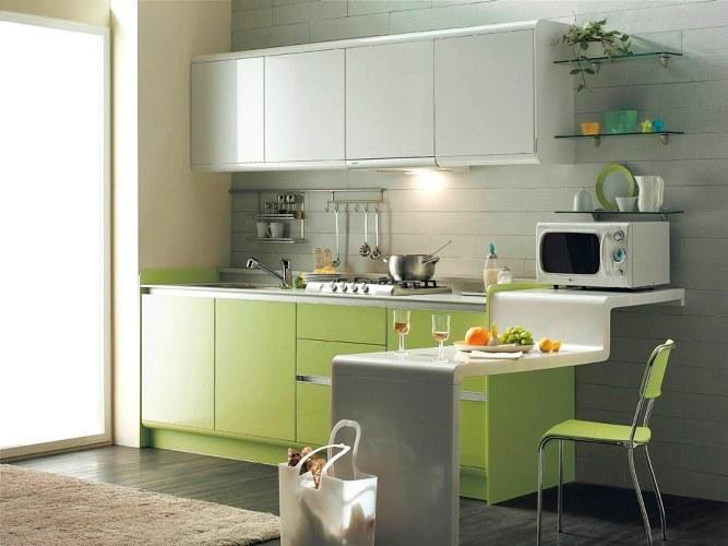 cucina verde look home