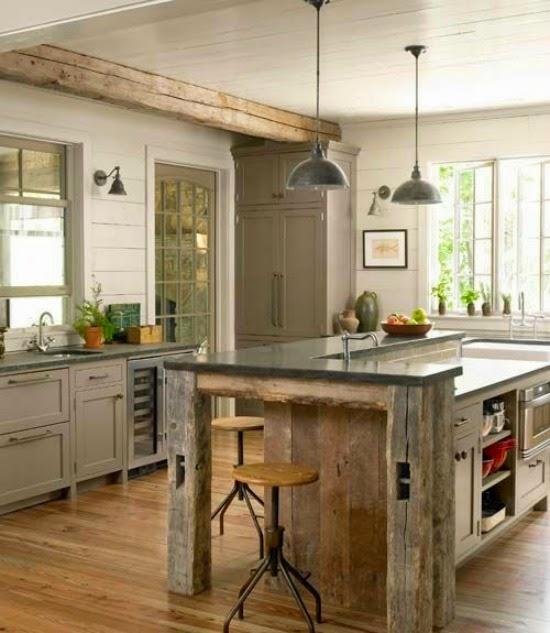 cucina legno grezzo look home